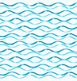 seamless pattern with hand drawn brush waves vector image vector image