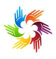 Spiral Hands vector image
