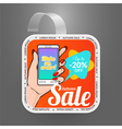 Square wobbler design template Autumn sale event vector image vector image