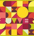summer trendy geometric background vector image vector image
