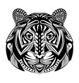 tiger full ornament for tattoo vector image vector image