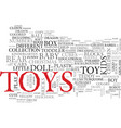 toy word cloud concept vector image