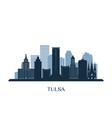 tulsa skyline monochrome silhouette vector image vector image