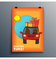 vacation time cover design for poster flyer vector image