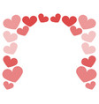 valentine day heart icon vector image