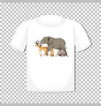 wild animal group design on t-shirt isolated vector image vector image
