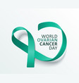 world ovarian cancer day - isolated banner with vector image vector image