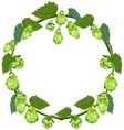 Wreath of hops in the form of a circle vector image vector image