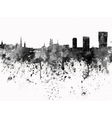 Zurich skyline in black watercolor on white vector image vector image