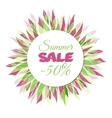 Summer sale floral frame vector image