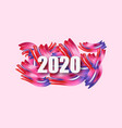 2020 happy new year background with colorful vector image