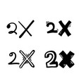 2x logo icon x2 text letter double faster vector image vector image