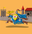 a medieval knight vector image