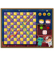a snake ladder game themplate vector image vector image