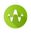 abstract overlapping waves green flat design long vector image