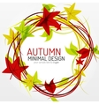 Autumn leaves and lines abstract background vector image vector image