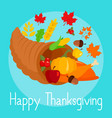 autumn thanksgiving day concept background flat vector image