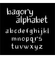 bagory alphabet typography vector image vector image
