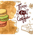 beautiful hand drawn coffee vector image vector image