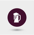 beer icon simple vector image