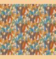 big crowd happy people seamless pattern vector image vector image