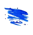 blue watercolor stain with aquarelle paint blotch vector image vector image