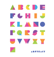bright abstract font vector image