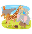 cartoon funny animal characters group vector image vector image