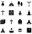 catholic icon set vector image