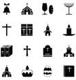 catholic icon set vector image