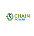 chain power electric logo designs for technology vector image