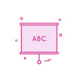 chart diagrame office icon design vector image vector image