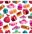 christmas holiday gifts seamless pattern vector image vector image