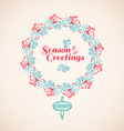 Christmas wreath drawn vector image vector image