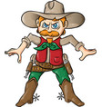 cow boy cartoon isolated vector image
