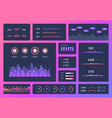 dashboard ui mobile app user interface ux design vector image vector image