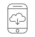 downloading from cloud storage using smartphone vector image vector image