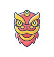 dragon dance rgb color icon vector image