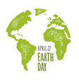 earth day handwriting lettering lettering vector image