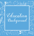 education lined icon stuff square banner vector image