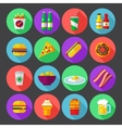 fast food design icons for web and mobile vector image vector image