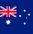 flag australia flat style vector image