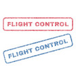 flight control textile stamps vector image vector image