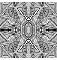 geometric abstract psychedelic black and white vector image vector image