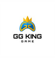 gg king game logo vector image vector image