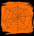 halloween backdrop with creepy cobweb vector image