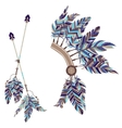 headdress indians and two arrows with feathers vector image
