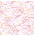 ink hand drawn lotus seamless pattern pink vector image vector image