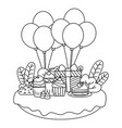 isolated happy birthday surprise design vector image vector image