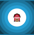 isolated warehouse flat icon storage vector image